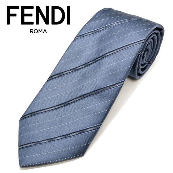 フェンディ ネクタイ(8cm) FFA9 【FENDI・フェンディネクタイ・ネクタイ ブランド】 ブルー/ネイビー 【送料無料】