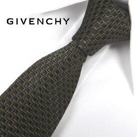 ジバンシー ナローネクタイ(6.5cm幅) 【GIVENCHY・ジバンシーネクタイ・ネクタイ ブランド】 ブラック/キャメル GIV20【送料無料】