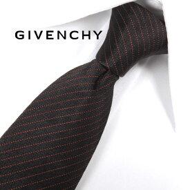 ジバンシー ナローネクタイ(6.5cm幅) 【GIVENCHY・ジバンシーネクタイ・ネクタイ ブランド】 ブラック/レッド GIV23【送料無料】