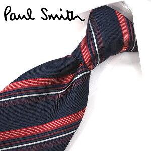 ポールスミス ネクタイ(8cm幅) PS107 【Paul Smith・ポールスミスネクタイ・ネクタイ ブランド】 ネイビー/レッド【送料無料】