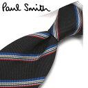 ポールスミス ネクタイ PS111 ブラック/ブルー 8cm幅 【Paul Smith・ポールスミスネクタイ・ネクタイ ブランド】【…