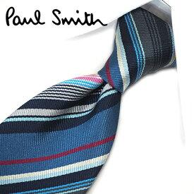 ポールスミス ネクタイ PS12 ブルー/ネイビー系マルチストライプ 8cm幅 【Paul Smith・ポールスミスネクタイ】【ネクタイ ブランド・ブランドネクタイ】 【送料無料】
