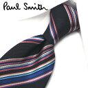 ポールスミス ネクタイ PS132 ブラック/ブルー 8cm幅 【Paul Smith・ポールスミスネクタイ・ネクタイ ブランド】【…