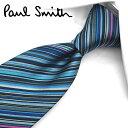ポールスミス ネクタイ PS2 ネイビー/ブルー系マルチストライプ 8cm幅 【Paul Smith・ポールスミスネクタイ・ネク…