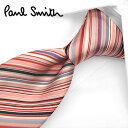 ポールスミス ネクタイ PS4 ピンク/グレー系マルチストライプ 8cm幅 【Paul Smith・ポールスミスネクタイ・ネクタ…