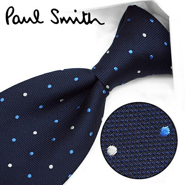 ポールスミス ネクタイ(8cm幅) PS42 【Paul Smith・ポールスミスネクタイ・ネクタイ ブランド】 ネイビー/ブルー【送料無料】