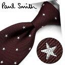ポールスミス ネクタイ PS53 ボルドー/ホワイト 8cm幅 【Paul Smith・ポールスミスネクタイ・ネクタイ ブランド】…