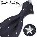 ポールスミス ネクタイ PS54スター(FLU09-47) ネイビー/ホワイト 8cm幅 【Paul Smith・ポールスミスネクタイ】【ネ…