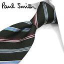 ポールスミス ネクタイ(8cm幅) PS76 【Paul Smith・ポールスミスネクタイ・ネクタイ ブランド】 ブラック/マルチ…