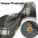 ヴィヴィアン ウエストウッド ネクタイ(8.5cm幅) VW34 【Vivienne Westwood・ヴィヴィアンネクタイ・ブランドネク…