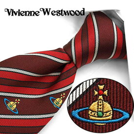 ヴィヴィアン ウエストウッド ネクタイ(8.5cm幅) VW5 【Vivienne Westwood・ヴィヴィアンネクタイ・ネクタイ ブランド】 ヴィヴィアンウエストウッド ネクタイ ボルドー/レッド【送料無料】