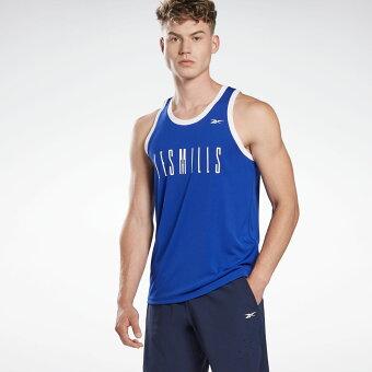 【公式】リーボック Reebok 【2020秋冬新作】レズミルズ ベースボール スリーブレス Tシャツ / LES MILLS B-Ball Sleeveless Tee メンズ GE1031 スタジオ ウェア