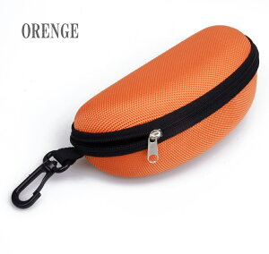 メガネケース サングラスケース フック付き セミハードおしゃれ かわいい オレンジ 送料無料