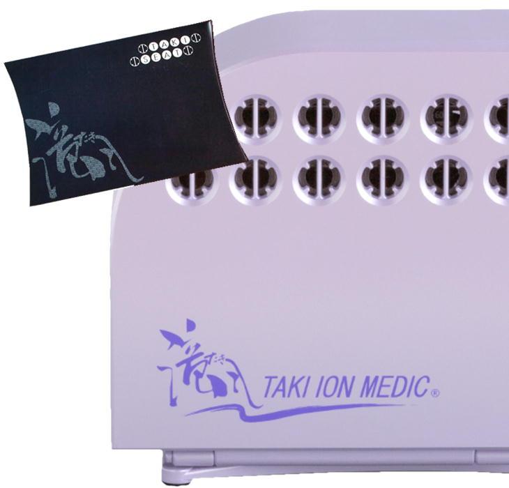 滝風(たき)イオンメディック+たきシート付 マイナスイオン生成 医療用物質生成器 ホワイト パープル アップドラフト 滝風イオン