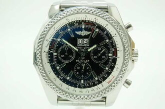 """BREITLING Breitling """"Bentley 6.75"""" chronograph men's watch SS/SS Black Edition A44362 beauty products used"""