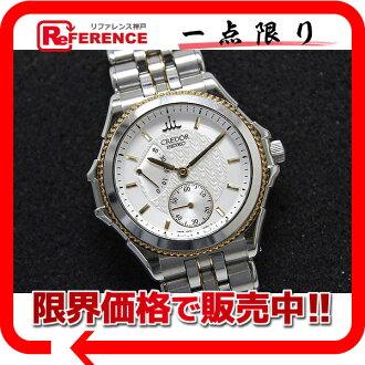 "Seiko credor Pacifique mens watch power reserve hand winding SS × K18YG white-board GCAY990 ""response.""-fs3gm"