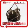 GUCCI古馳BABOUSKA(babushuka)2WAY挎包復古皮革×反毛皮革暗褐色207300美品
