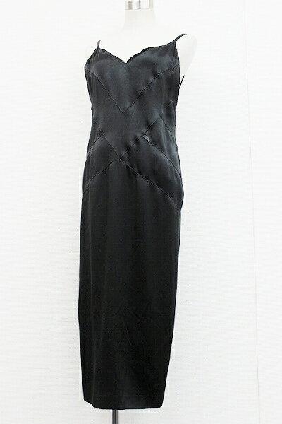 CHANEL シャネル 02P シルク ドレス 40 ブラック P19577 【中古】
