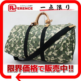 "Louis Vuitton Takashi Murakami collaboration limited monogramovlage ""and keepall Bandy ALE 55"" for travel bag camouflage M95774? s support.""fs3gm02P05Apr14M"