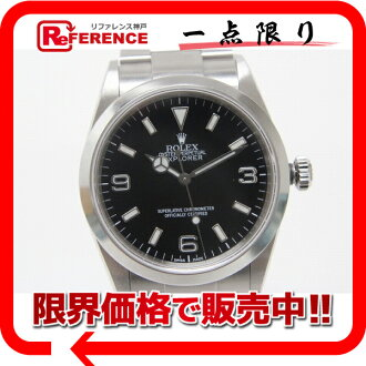 "Rolex Explorer 1 men's watch black letter Edition SS automatic winding 114270 ""response.""-fs3gm"