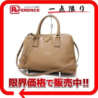 PRADA Prada SAFFIANO LUX (safianolyukes) 2-WAY handbag caramel BL0837 brand new as well as used