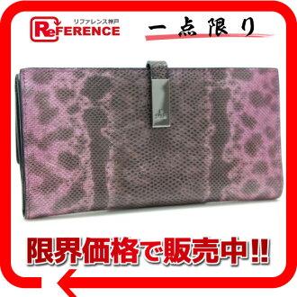 """Gucci lizard W hook length wallet purple pink """"response.""""-fs3gm"""