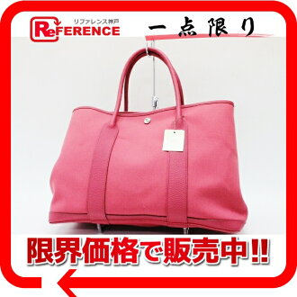 "Hermes garden party PM tote bag bougainvillea トワルオフィシ ALE N time unused ""response."""