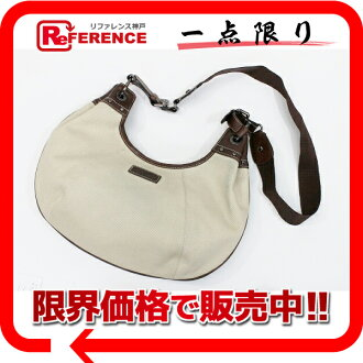 Burberry blue label slant credit shoulder bag beige X brown 》 02P11Jan14 for 《