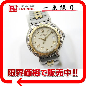 Hermes Captain Nemo ladies watch quartz movement SS/GP? s support.""