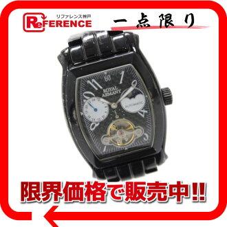 """皇家阿玛尼男装手表 SS 自动缠绕黑 RA004""""启用""""。"""