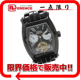 "Royal Armani men's watch SS automatic winding black RA004 ""enabled."""