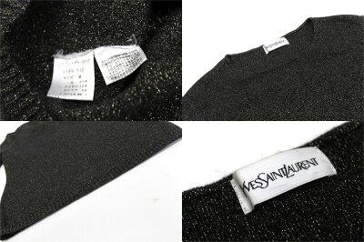 【YvesSaintLaurent】イヴサンローランメンズボーダートレーナーMホワイト×ネイビー【KK】【中古】【楽ギフ_包装】《あす楽対応》