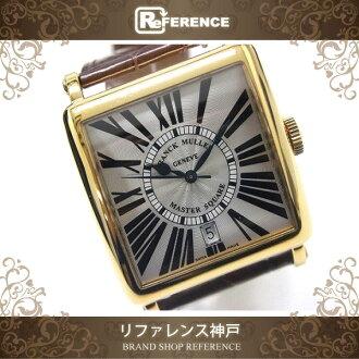 FRANK MULLER Master Square Men's Wristwatch K18YG Crocodile Strap Automatic 6000 H SC DT