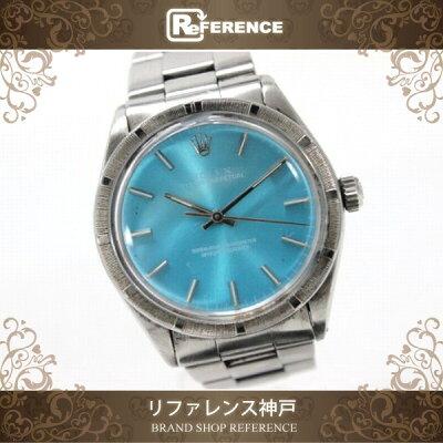【ROLEX】ロレックスオイスターパーペチュアルメンズ腕時計エンジンターンドベゼルSS自動巻き1007【KK】【中古】【楽ギフ_包装】《あす楽対応》【送料無料】