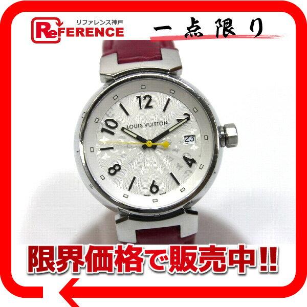 LOUIS VUITTON ルイ・ヴィトン タンブール SS/クロコベルト クォーツ レディース腕時計 Q1313 【中古】