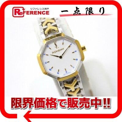 YvesSaintLaurentイヴサンローランレディース腕時計SS×GPクオーツ2200-226313YO中古KK
