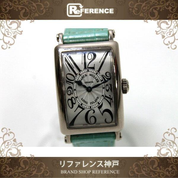FRANCK MULLER フランクミュラー ロングアイランド K18WG無垢 レディース腕時計 クロコベルト クオーツ 902QZ KK 【中古】 フランクミュラー レディース腕時計 ロングアイランド