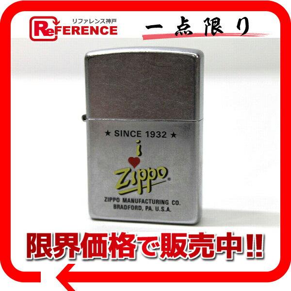 ZIPPO ジッポー 2000年 I LOVE ZIPPO オイルライター シルバー 【中古】 KK