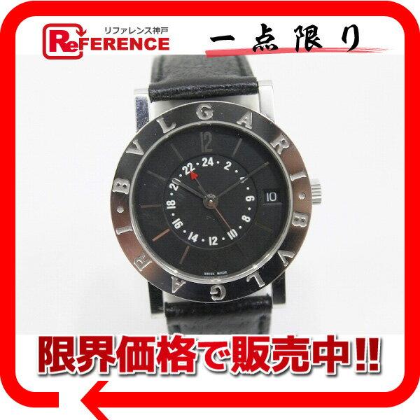 BVLGARI ブルガリ ブルガリ・ブルガリ GMT ボーイズ腕時計 SS×革ベルト オートマチック 自動巻き BB33SL KK【中古】