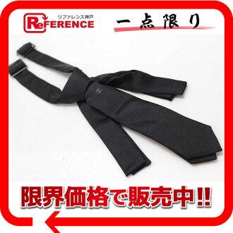 CHANEL香奈尔丝绸领带黑色未使用的KK