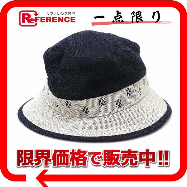 HERMES エルメス MOTSCH モッチ社製 レディース ハット帽 55 グレー×ブラック 【中古】