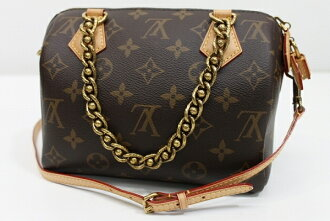 "LOUIS VUITTON Monogram 2013 ""Speedy Chain 20"" Hand Bag with Strap M40988 UNUSED"