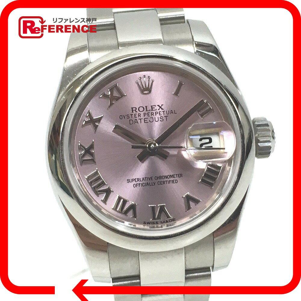 ROLEX ロレックス 179160 オイスターパーペチュアル デイトジャスト 腕時計 SS/ピンクゴールド レディース【中古】