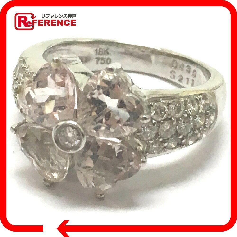 JEWELRY リサイクルジュエリー リング リング・指輪 K18WG/ダイヤモンド/ピンクサファイア D S 6号 レディース【中古】