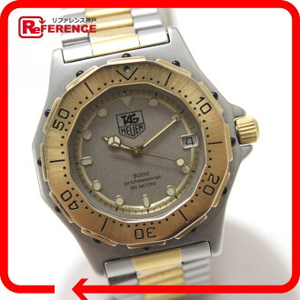 AUTHENTIC TAG HEUER 3000 Series professional 200m Wristwatch Silver/gold Stainless Steel/Gold Plated 934.213