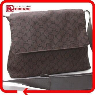 9e53ef1bffb BRANDSHOP REFERENCE  AUTHENTIC GUCCI Nylon GG Shoulder Bag Brown black Nylon  leather 272351