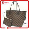 AUTHENTIC LOUIS VUITTON Damier Neverfull MM Tote Bag Rose Balerine M41603