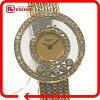 AUTHENTIC Chopard 5P diamond Happy Diamonds Golden gold double diamond Bezel Wristwatch/Yellow Gold K18 Yellow Gold/K18WG 4097