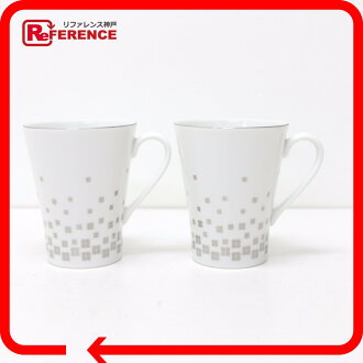 GIVENCHY Yamaka Pair Porcelain Mugs with Tray White