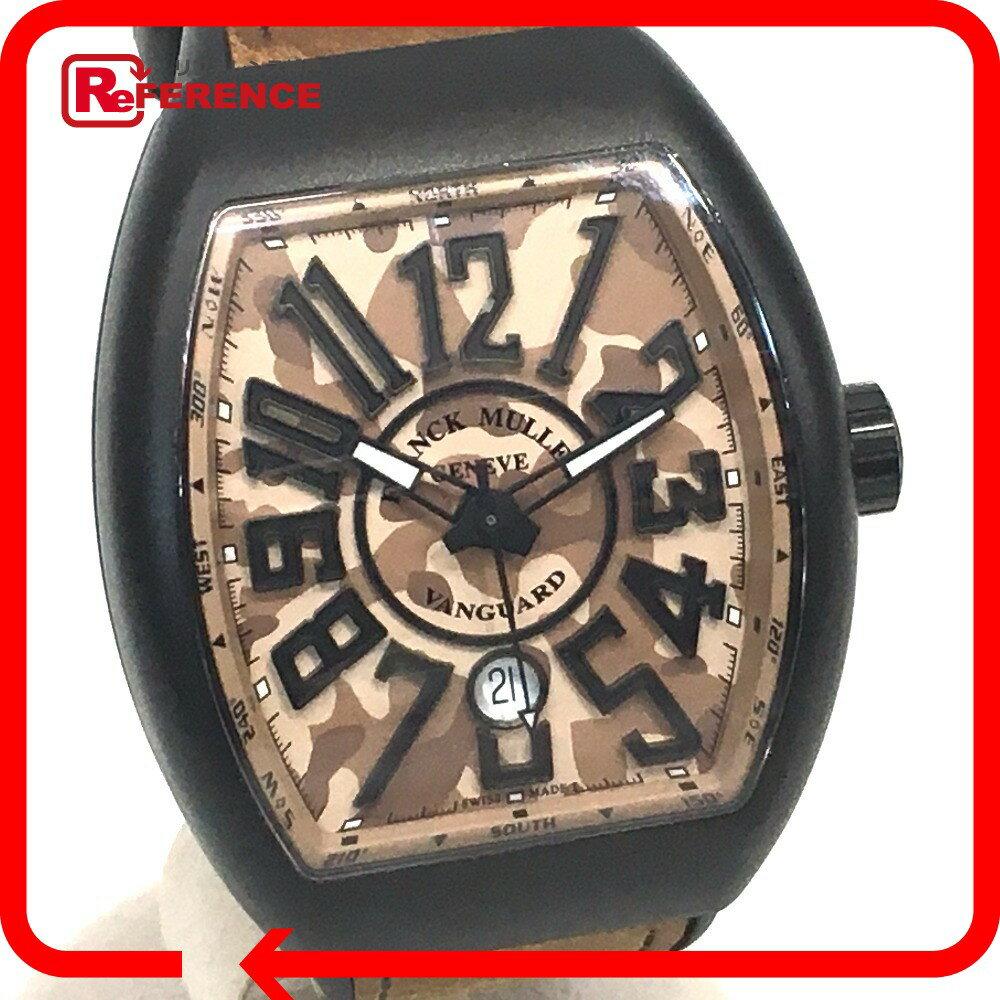 FRANCK MULLER フランクミュラー V45SCDT CAMO メンズ腕時計 ヴァンガード カモフラージュ 腕時計 チタン/レザー×ラバーベルト ブラック×ブラウン メンズ 未使用【中古】